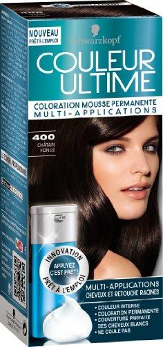 schwarzkopf couleur ultime coloration mousse permanente 400 chtain fonc - Coloration Chatain Fonc