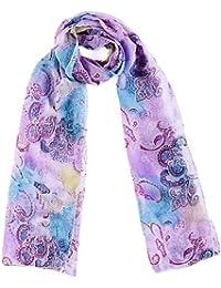 Echarpe foulard étole en mousseline - Paisely - Très agréable à porter et très douce - Plusieurs couleurs