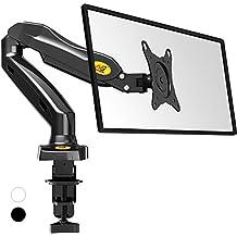 """NB F80 - El mango giratorio y robusto de escritorio sobre el resorte de gas para los monitores 43cm-69 cm / 17""""-27"""" y hasta 6,5 kg. Ajuste en varios ejes, pivote"""