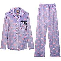 GJX MS inverno PajamasThick caldo dolce pigiama Flannel suit Home arredamento Cardigan , 170 (xl)