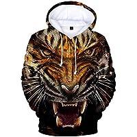 CTOOO 2018 3D-Tiger-Muster 3D Drucken Damen Herren Kapuzenpullover Hoodies  Sweatshirt Paare Pullover 5b3bee2f4d