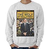 thedifferent Felpa Leggera Uomo The Wolf of Wall Street Locandina - Grigio