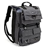 Evecase Camera Backpack, Premium Waterproof & Durable Canvas DSLR Case with Laptop Compartment