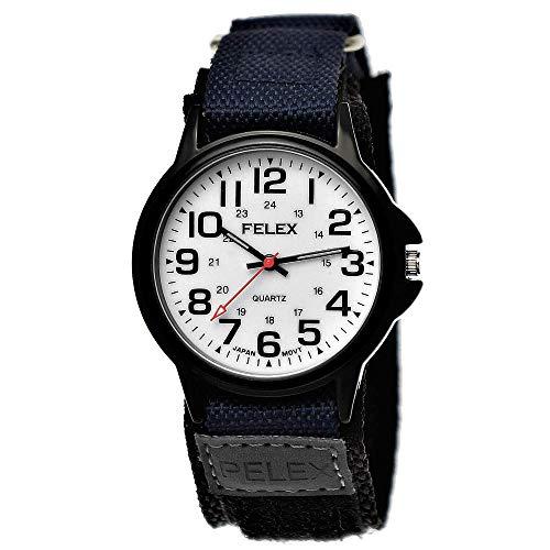 Coole NY London Kinder-Uhr Jungen-Uhr Mädchen-Uhr für Kinder Analog Quarz Textil Nylon Armband-Uhr Blau Schwarz Anthrazit Weiß Japanisches Qualitäts Uhrwerk