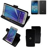 360° Funda Smartphone para Jiayu S3 Advanced, negro | Función de stand Caso Monedero BookStyle mejor precio, mejor funcionamiento - K-S-Trade