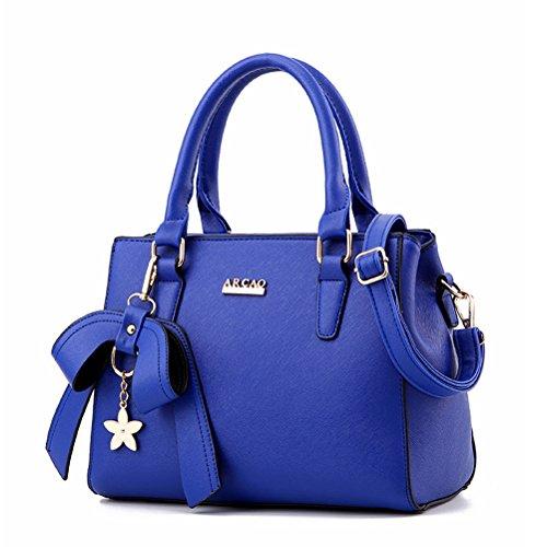 YIMOJI, Borsa a mano donna Royal blue