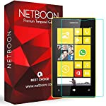 NETBOON Premium Tempered glass Compatible with Nokia Lumia 520/Nokia Lumia 525 only. This made of shatter proof Glass and comes with a smudge proof coating and 2.5D round edge because of this It gives a crystal clear view of your screen without the h...