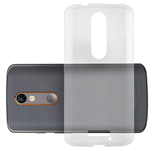 Cadorabo Hülle für Motorola Moto X Force - Hülle in VOLL TRANSPARENT – Handyhülle aus TPU Silikon im Ultra Slim 'AIR' Design - Silikonhülle Schutzhülle Soft Back Cover Case Bumper