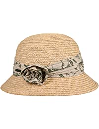 Sombrero Cloche Flower Trim by Seeberger sombrero de solsombrero de mujer sombrero de sol