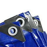 Plane Blau Wasserdichte Outdoor Camping Zelt Sonnencreme Messer Schaber Reservoir Abdeckung LKW, 550g/m² (größe : 5 * 5m)