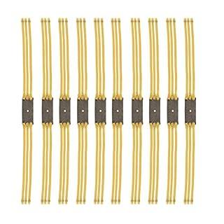 Ladepe 10PC 3 Karte 6 Strang Slingshot Rubber Band Zubehör