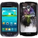Hülle für Samsung Galaxy S3 Mini (GT-I8190) - Abstrakte Bunte Eule by Gatterwe