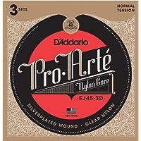D'Addario EJ45-3D Pro-Arte normale klassische Gitarrensaiten, 3er Pack