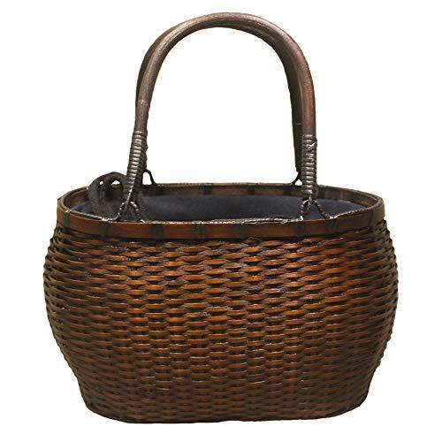 Bambus Handtasche Frauen Handgewebte Webart Tasche NatüRliche Schicke Strand Korb Handgemachte Geschenke Einkaufen Handwerk Aufbewahrungsbox