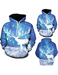 BUSIM Men's Long Sleeve Sweater Autumn Winter Christmas Elk Print Casual Slim Hoodie Sweatshirt Entertainment... - B07HFCH2YV