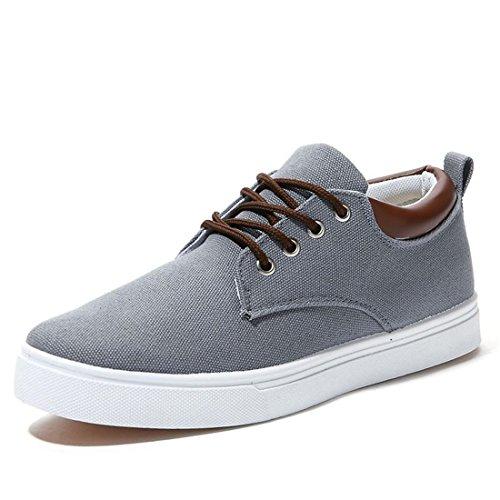 jeansian Moda Casuale Sneaker Scarpe Calzature Sportive Scarpe da Uomo Gray 9 US SHB004