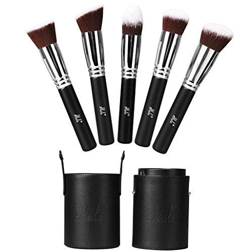 iLuLu Brosses cosmétiques professionnelles - Série de 5 pièces de brosses de maquillage Kabuki
