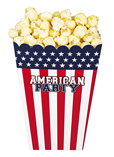 Generique - 4 Popcorn-Becher Amerika-Party