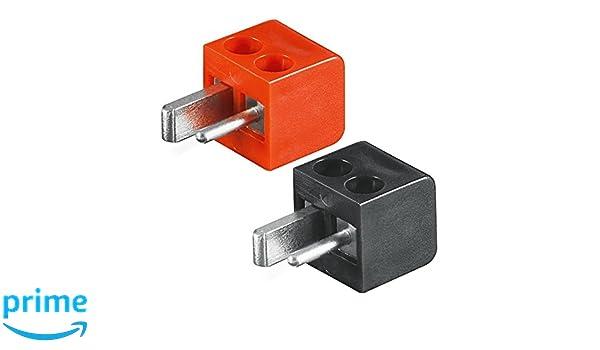 lötfrei Winkelstecker KFZ 4x Lautsprecher-Stecker Mini DIN: 2x rot+2x schwarz