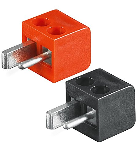 8x Lautsprecher- Mini DIN Stecker (alte DIN Norm) |Set mit 4x Stecker rot + 4x Stecker schwarz |lötfrei; Schraubtechnik ;[LS-Stecker; Strich-Punkt Stecker; Auto-/KFZ-Lautsprecher Stecker]