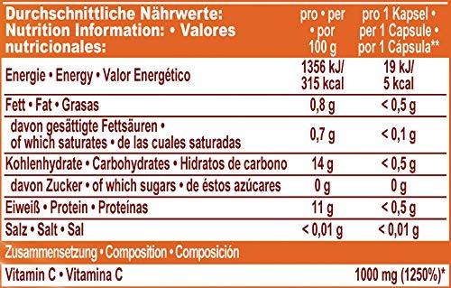 IronMaxx Vitamin C 1000 high dosed - Kapseln mit hochdosiertem Vitamin C zur Unterstützung des Immunsystems und der Muskelfunktion - 1 x 100 Kapseln