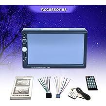 Koly Navegación GPS HD doble 2 Din coche estéreo reproductor de DVD Bluetooth radio mp3 en Dash