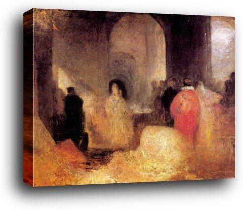 Joseph William Turner Poster Kunstdruck als Blockbild - Abendessen Mit Menschen In Kostümen, 1830–1835 (80 x (80 Kostümen Menschen In)