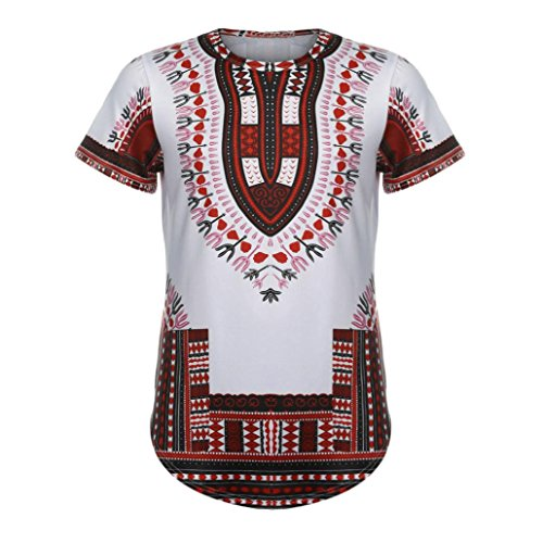 Herren Slim Fit Lange Kleidungs-Länge: Langes kurzes Hülsen-Hemd, Amlaiworld 2017 Neues Art und kühles T-Shirt für Herren (M, Rot)