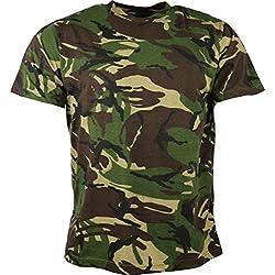 Kombat UK de los hombres adultos camuflaje camisetas, hombre, color DPM Camo, tamaño S