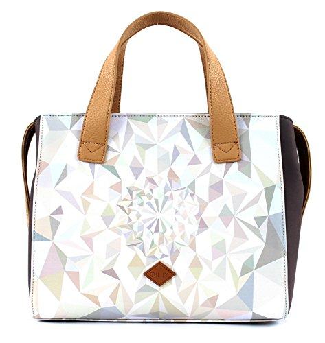 Oilily Handbag OES7189-029 Oyster White Damen Handtasche Schultertasche Umhängetasche (28 x 13 x 23 cm) - White Oyster