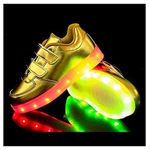 (Present:kleines Handtuch)JUNGLEST® 7 Farbe USB Aufladen LED Leuchtend Sport Schuhe Sportschuhe High Top Sneaker Turnschuhe für Unisex-Erwa c27
