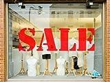 Sale Shop Window Sign Sticker Graphic Retail Business Signage Advert Sign