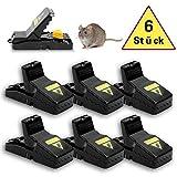 DOPGL Mäusefalle Rattenfalle 6 Stück Profi Mausefalle Schlagfalle, Mausefalle, Hygienisch Wiederverwendbar Effektive mausefallen in Haus und Garten