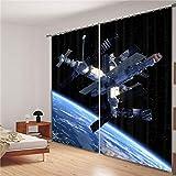 Eqwr Weltraum Galaxy Luxus Blackout 3D Vorhänge Für Wohnzimmer Bettwäsche Zimmer Büro Vorhänge H240 * W220 cm