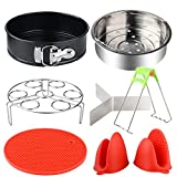 8 Pieces Pots Instant Accessory, Moonvvin Basket steam Tray Shape Spring Non-Stick, Grid
