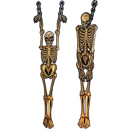 Kostüm Cut Out Skelett - PARTY DISCOUNT Neu Deko Skelett aus Pappe, ca. 150cm,