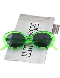 Elite Oval Vintage NIRVANA Kurt Cobain Round Sunglasses For Women Men Eyewear (Green