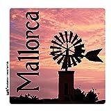 1art1 101421 Mallorca - Windmühle Im Abendrot