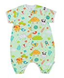 Chilsuessy Baby Sommer Schlafsack 0.5 Tog Kurzarm mit Beinen Unwattiert Schlafstrampler Kinder Schlafsaecke Cartoon Tiere, Gruener Wald, XL/Koerpergroesse 95-115cm