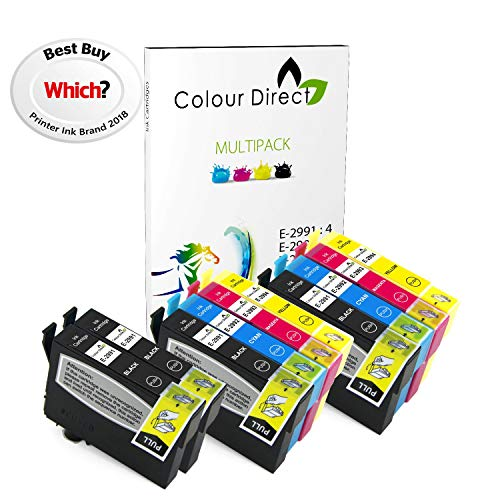 Colour Direct -2 Impostatos + 2 Nero Compatibile Cartucce d'inchiostro - 29XL Sostituzione Per Epson Expression Home XP-235 XP-245 XP-247 XP-255 XP-257 XP-332 XP-335 XP-342 XP-345 XP-352 XP-355 XP-432 XP-435 XP-442 XP-445 XP-452 XP-455 Stampanti.