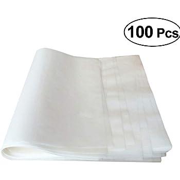 BESTONZON, fogli di carta oleata antiaderente, carta pergamena da forno per dolci, biscotti; fogli di rivestimento 25x 35cm, confezione da 100