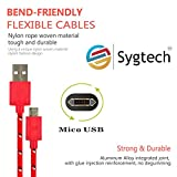 Micro usb Charger,Nylon Braided Fabric J...