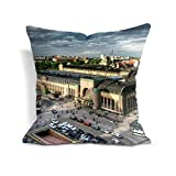 Cotton cotton 18 X 18 inch helsinki finland capital top view hdr Decor Throw Pillow Covers Printed Cushion Case