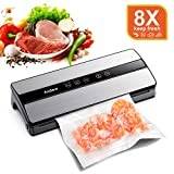 Audew Machine sous Vide Alimentaire, Machine de Scellage 130W en Acier Inoxydable Automatique,...