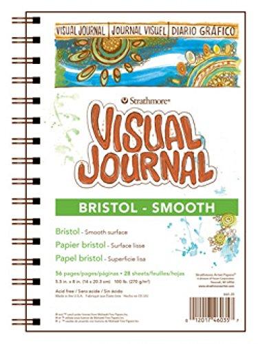 Strathmore Visual Journal Spiralbindung Art Pad, 9von 12Zoll, Bristol glatten (Visual Bristol Journal Strathmore)