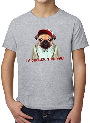 I'm Cooler Than You Ultimate Youth Fashion T-Shirt by Benito Clothing - 100% Organic, Hypoallergenic Cotton- Casual Wear- Unisex Design - Soft Material