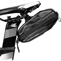 Lixada Wild Man EVA PU 195 * 90 * 80 mm 0.8L Bolsa para Sillín de Bicicleta Impermeable a Prueba de Lluvia Bolsa de Almacenamiento bajo del Asiento Bicicleta MTB (Negro-B)
