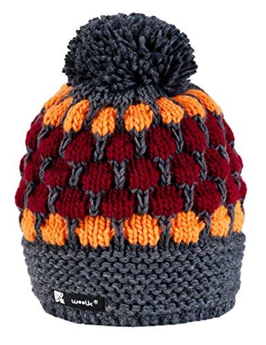 morefaz Wurm Winter Cookies Style Beanie Mütze mit Ponpon Damen Herren HAT HATS SKI Snowboard (Jagger 11) MFAZ Ltd