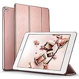 iPad Air 2 Hülle, ESR Yippee Bildserie Auto aufwachen / Schlaf Funktion Wickelfalz Ledertasche mit Lichtdurchlässig Rückseite Abdeckung Schutzhülle für iPad Air 2 / iPad 6 (Rosgold)