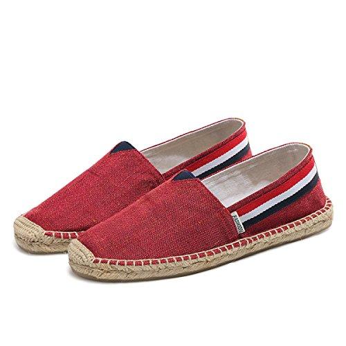CHT Ende Leinen Sommer Männer Und Frauensegeltuchschuhe Paar Schuhe Red